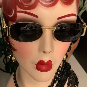 VERSACE Rare Unisex Sunglasses S70 COL 09M Black